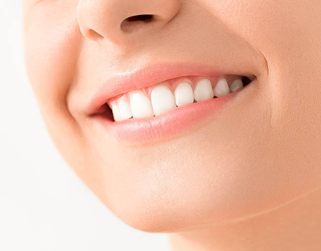 Person with beautiful white teeth